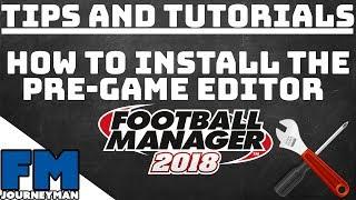fm18 pre game editor download - 免费在线视频最佳电影电视节目