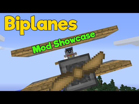 Minecraft Java - FLY PLANES - Biplanes Mod || Mod Showcase