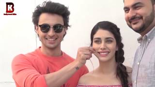 Aayush Sharma, Warina Hussain, Arpita Khan Arrives At Loveratri Promote