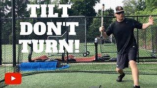 Tilt DON'T Turn – Baseball Hitting Tip