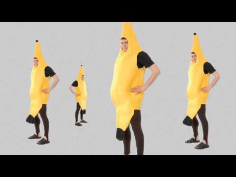 Disfraces de frutas - plátano carnaval