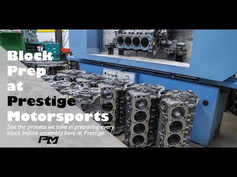 Engine Block Prep Work Detailed Out at Prestige Motorsports