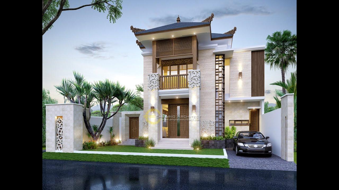 Video 3D Mrs. Fitri Villa Bali House 2 Floors Design - Bandung