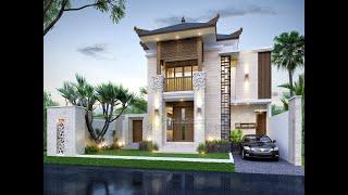 Video Desain Rumah Villa Bali 2 Lantai Ibu Fitri di  Bandung