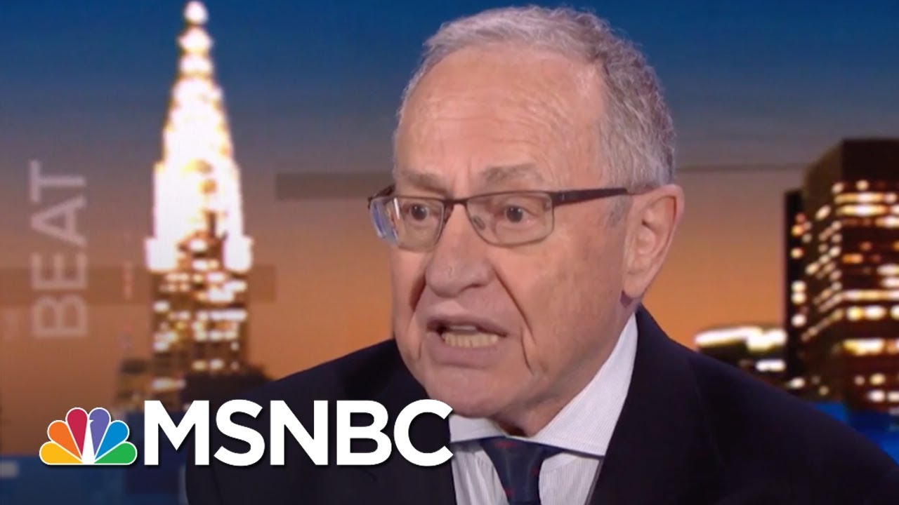 Dershowitz: Sean Hannity Wrong For Keeping Trump Lawyer's Secret | The Beat With Ari Melber | MSNBC thumbnail