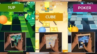 Rolling Sky Challenge - Poker,Cube,1UP WITHOUT LOSING Perfectly Clear All Gems,Crowns,Mystery Boxes