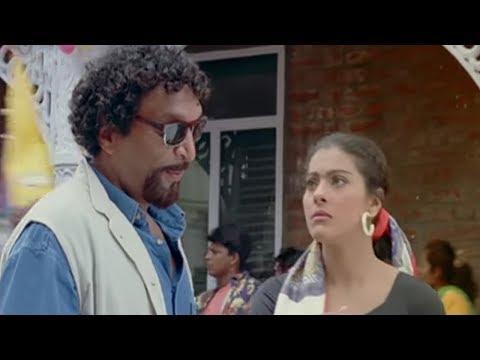 Nassar drags away Kajol from Arvind Swamy - Hindi Comedy Scene 9/12 | Sapnay