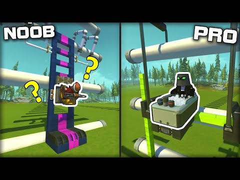 NOOB vs PRO Ladder Climbing but Automated! (Scrap Mechanic Gameplay)