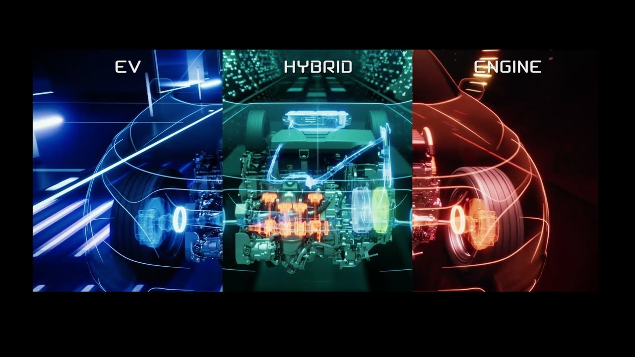 Honda Hybrid drive modes video.