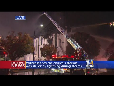 Historic Church Destroyed By Fire In Wakefield
