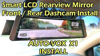 AUTO-VOX X1 Fullscreen LCD Rearview Mirror Dashcam INSTALL