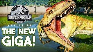 THE NEW HUGE GIGANOTOSAURUS | Jurassic World: Evolution Dinosaur Size Changes