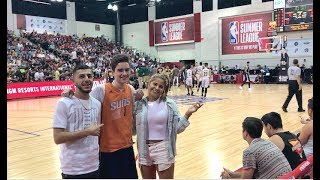 FRONT ROW SEATS WITH A FAN! (Meeting NBA players)