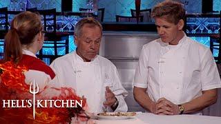 Wolfgang Puck & Gordon Ramsay Judge Pizza   Hell's Kitchen