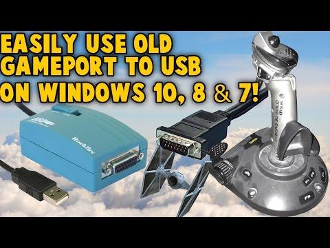 Use Old Gameport Joystick on Windows 10 8 7 - Gameport to USB Nest - Retro Joystick Controllers