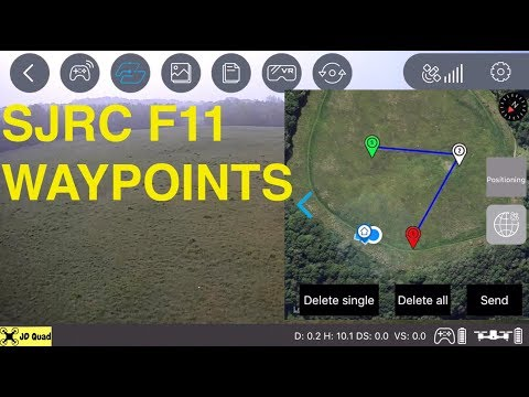 SJRC F11 Waypoint Video - Courtesy of Banggood