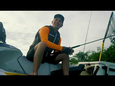 2019 Sea-Doo Fish Pro iBR + Sound System in Springfield, Missouri - Video 3