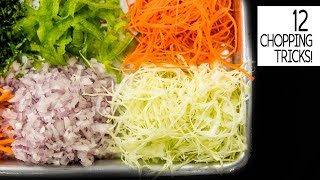 12 CUTS OF VEGETABLES with TRICKS ASMR VIDEO – CookingShooking