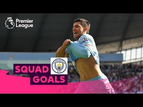 Fabulous Manchester City Goals | Aguero De Bruyne Sterling | Squad Goals