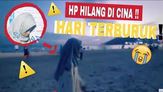 HARI TERBURUK! HP HILANG DI PANTAI CINA!!! part3 - FATIMVLOG15