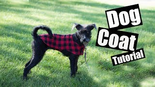 Dog Coat Sewing Tutorial - With Free PDF