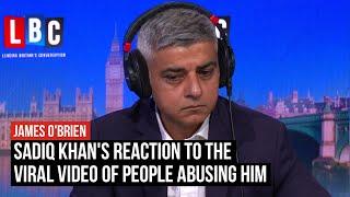 Sadiq Khan's reaction to shocking abuse video which went viral | LBC