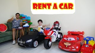 Araç Kiralama Ofisi Kurduk Oynadık   Yusuf Pretend Play with Toy Cars