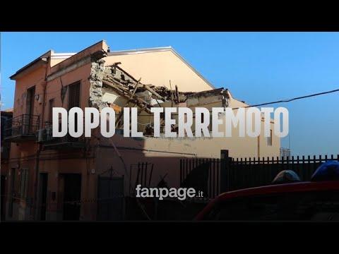 """Terremoto Catania, viaggio nelle case sventrate: """"Vivi p"""