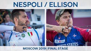 Mauro Nespoli v Brady Ellison – recurve men gold   Moscow 2019 World Cup Final