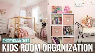 KIDS BEDROOM ORGANIZATION   DIY & Decor Challenge   The DIY Mommy