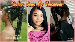 Feed In Braids Ponytail | Allofdestiny Takeover | DeSade