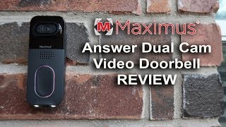 Maximus Answer Dual Cam Video Doorbell Review - Unboxing, Features, Settings, Footage