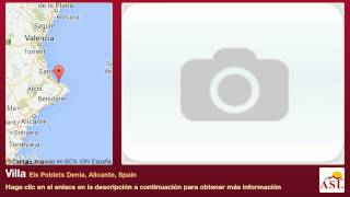 preview picture of video 'Villa se Vende en Els Poblets Denia, Alicante, Spain'