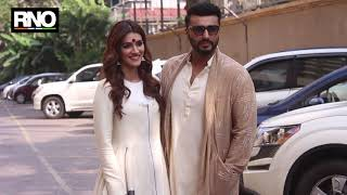 ARJUN KAPOOR,KRITI SANON & ASHUTOSH GOWARIKAR PROMOTING THEIR FILM PANIPAT AT JUHU