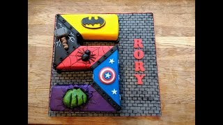 Superhero Number 5 Cake . . .  Timelapse/how to