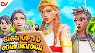How To Join Team Devour (Join A Fortnite Clan) NO MORE GRINDING!