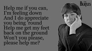 The Beatles - Help! (Lyrics)