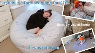 i made a 5 foot bean bag