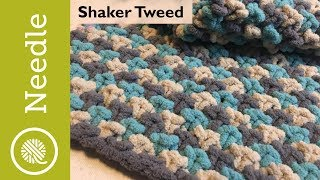 Knitting Stitch Pattern: Shaker Tweed (3 Color)
