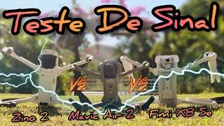 Qual Drone Tem o Melhor Sinal? Mavic Air 2 vs Fimi X8 Se 2020 vs Hubsan Zino 2