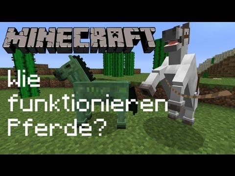 Minecraft 1.8 Tutorial - Alles zu Pferden! ᴴᴰ
