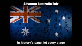 National Anthem of Australia - Advance Australia Fair (Nightcore Style With Lyrics)