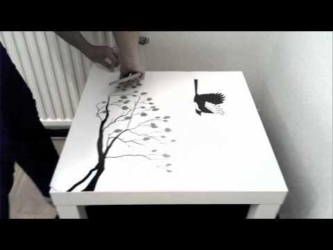 Möbeldekal/stickers instruktion