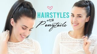 Easy hairstyles with ponytails - YouTube