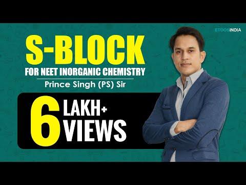 S-Block I NEET | Inorganic Chemistry | Prince Singh (PS) Sir From ETOOSINDIA.COM