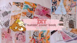 DIY TUMBLR COVER BOOK!! || BACK TO SCHOOL?!! JADI LUCU?? WOW BERUBAH BANGET!!😱|| Nabila Frd