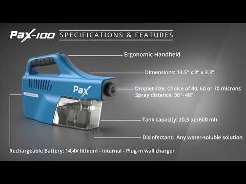 PAX©-100-70 Handheld Electrostatic Sprayer │Sanitizing Gun With An 8 Hour Rechargeable Battery │Use Any FDA Approved And EPA Approved Disinfectant Fluid  │White List Approved │CE Certified │Made In Canada