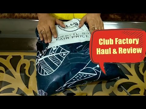 Club Factory Shopping Haul & Review
