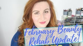 February Beauty Rehab Update | Mini Project Pan Intro, Year Long No Buy & Reverse Rouge