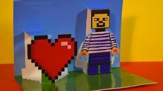 3D ОБЪЕМНАЯ ВАЛЕНТИНКА НУБА! Как сделать открытку трансформер! Сердце на 14 февраля. День валентина!